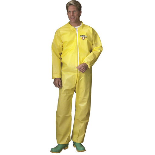 ChemMAX® 1 Polycoat Unhooded Coveralls with Elastic Ankles and Wrists