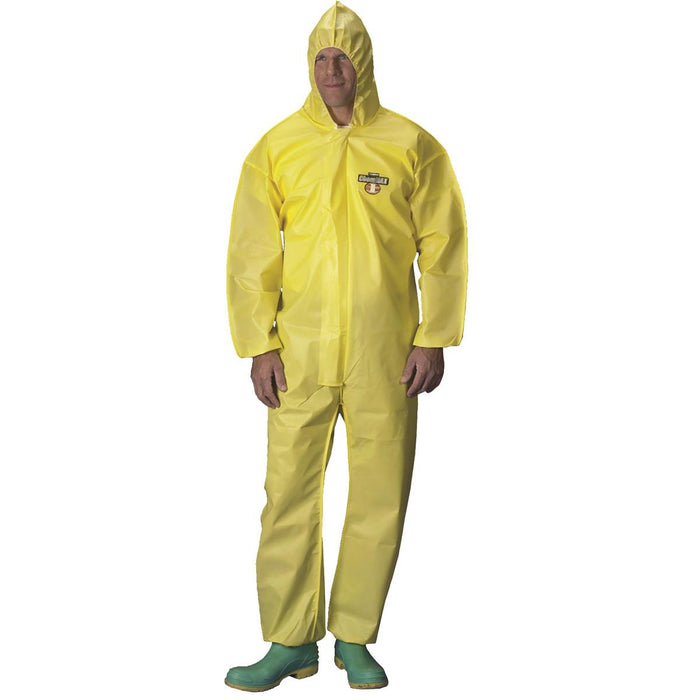 ChemMAX® 1 Polycoat Hooded Coveralls with Elastic Ankles and Wrists