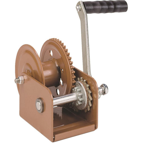 Hand Cranked Winch with Automatic Brake, 800-lb. Pulling Capacity