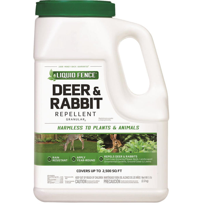 Liquid Fence Deer & Rabbit Granular Repellent, 5-lb. Bottle