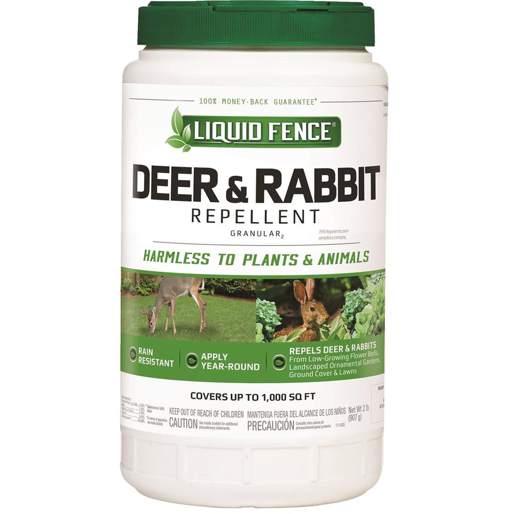 Liquid Fence Deer & Rabbit Granular Repellent, 2 lb.