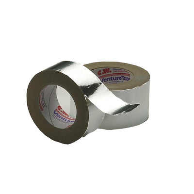 3M™ Venture Tape™ Aluminum Foil Tape 1520CW, Silver, 48 mm x 45.7 m, 3.2 mil, Case of 12