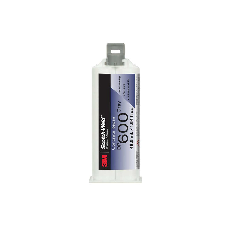 3M™ Scotch-Weld™ Concrete Repair DP600, Gray, Self-Leveling, 48.5mL Duo-Pak, Case of 12