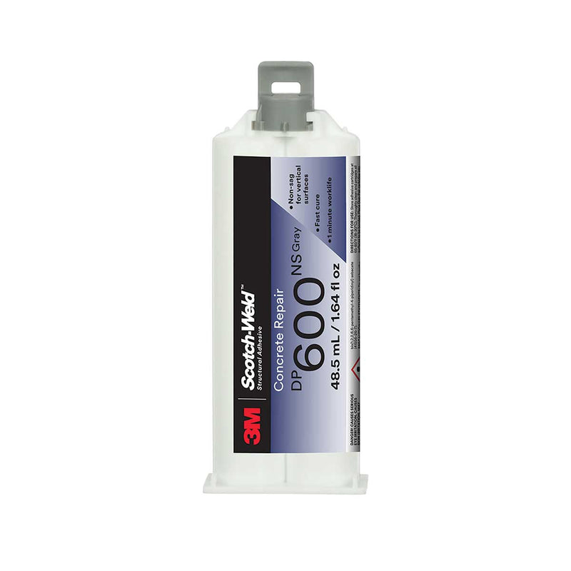 3M™ Scotch-Weld™ Concrete Repair DP600NS, Gray, Non-Sag, 48.5mL Duo-Pak, Case of 12