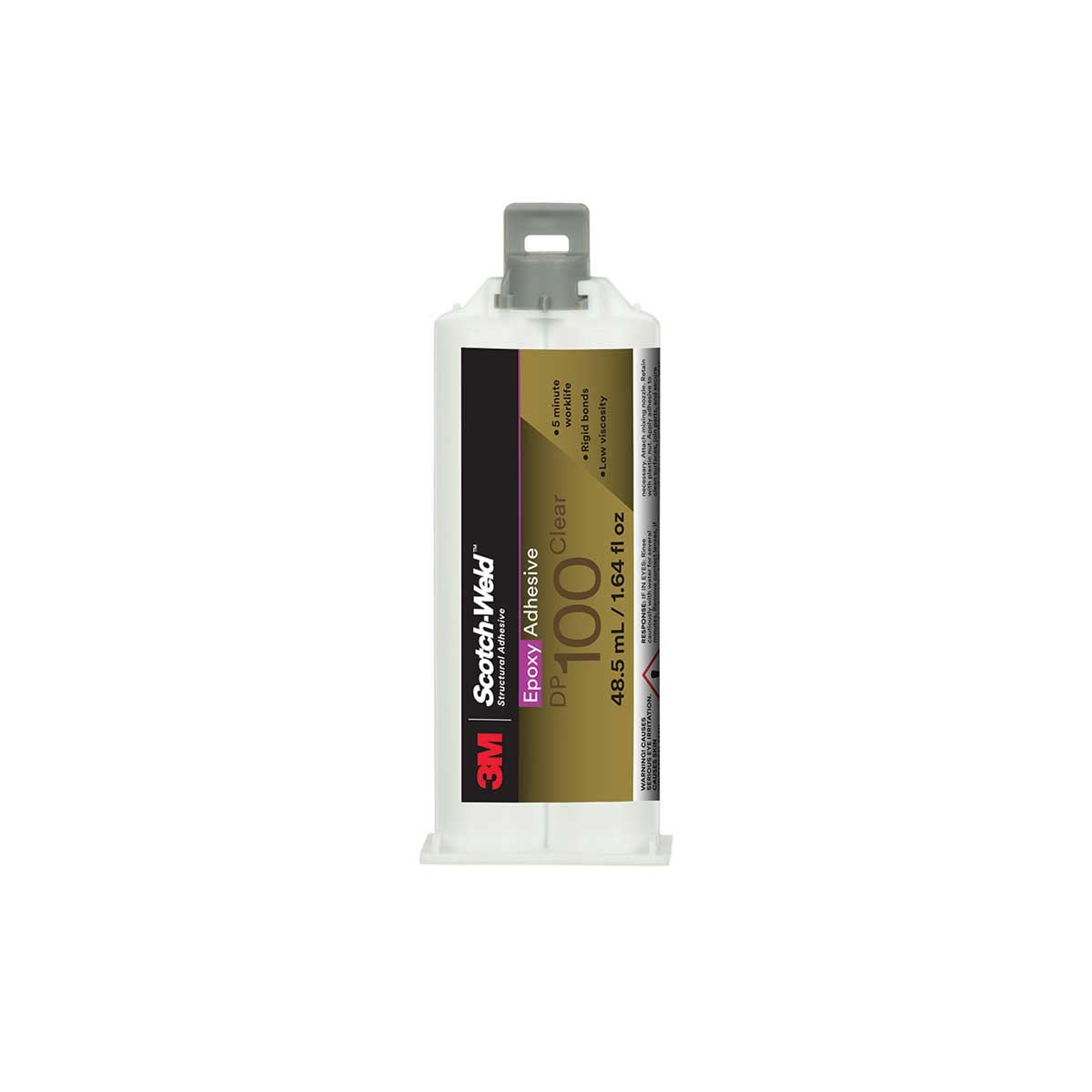 3M™ Scotch-Weld™ Epoxy Adhesive DP100, Clear, 48.5 mL Duo-Pak, Case of 12