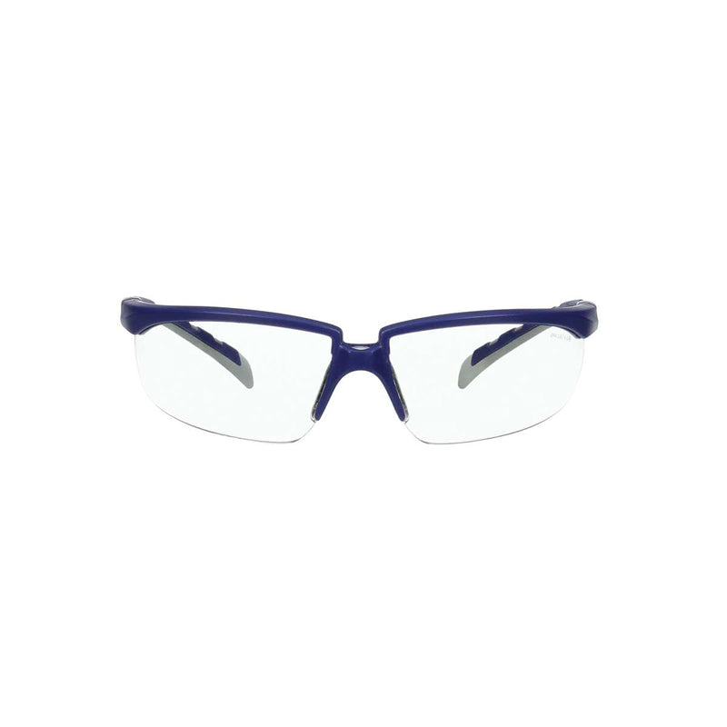 3M™ Solus™ 2000 Series, S2001AS-BLU, Blue/Gray Temples, Clear  Anti-Scratch lens, Case of 20