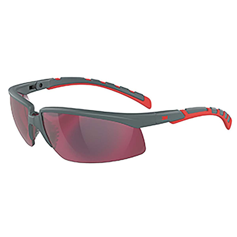 3M™ Solus™ 2000 Series, S2024AS-RED, Gray/Red Temples, Red Mirror  Anti-Scratch lens, Case of 20