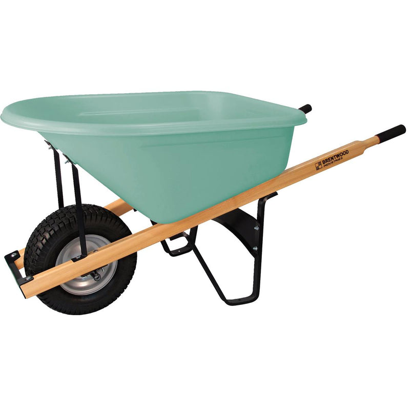 BRENTWOOD INDUSTRIES Poly Tray Commercial-Grade Wheelbarrow