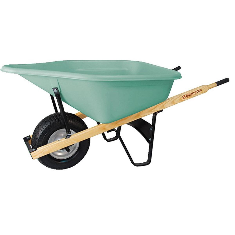 Brentwood Pour Spout Poly Tray Commercial-grade Wheelbarrow