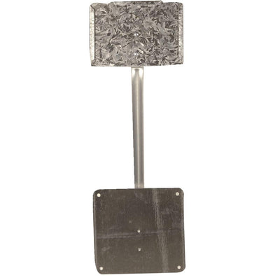 COLLIER METAL SPECIALTIES Economical One-Piece Galvanized Steel Sign Holders