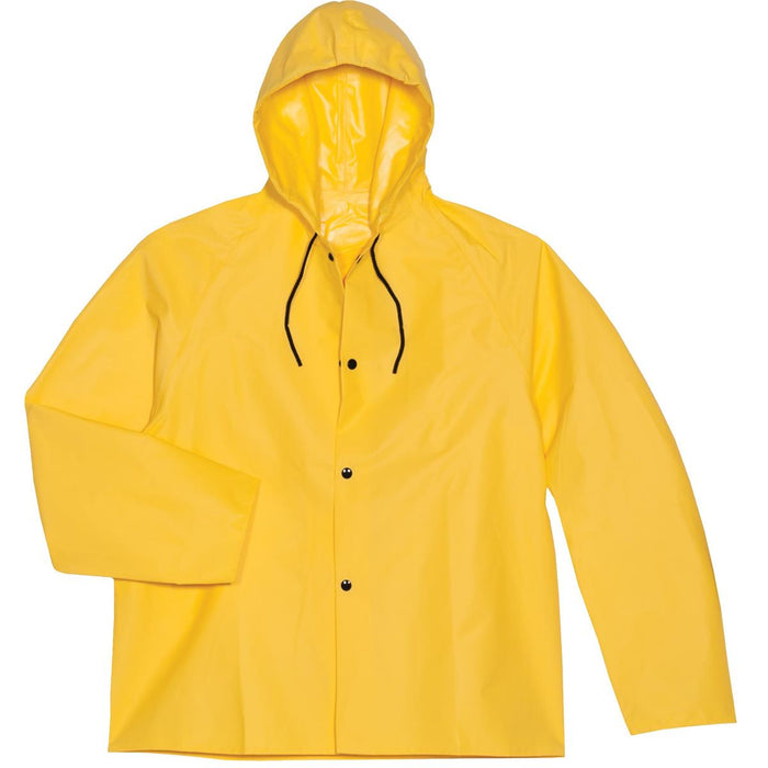 "Tri Weave® FR 30"" Hooded Rain Jacket, Yellow"