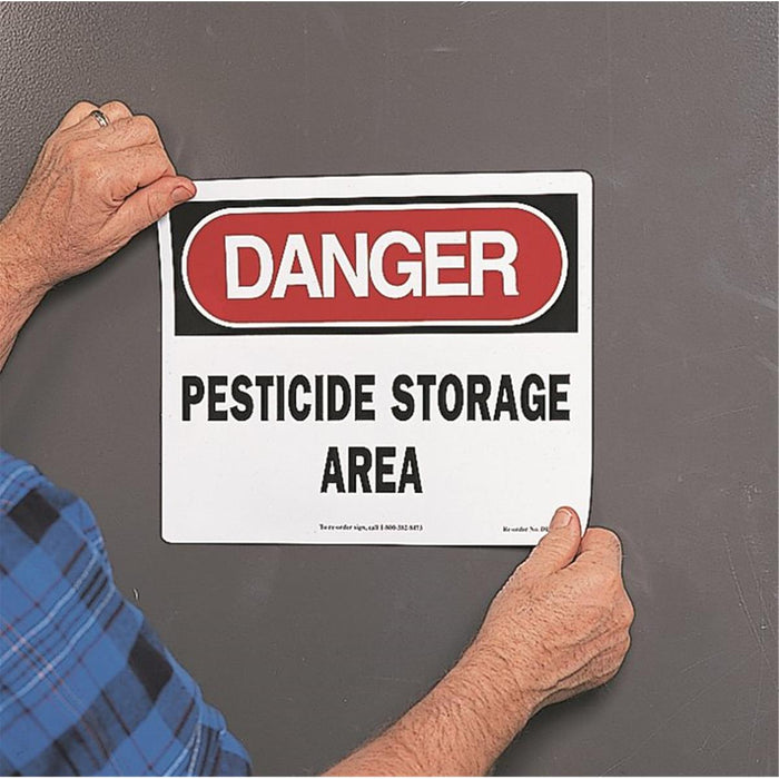 Voss Signs Danger/Pesticide Storage Area Magnetic Sign