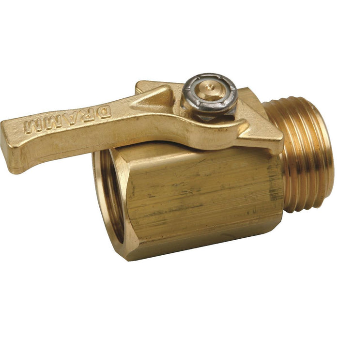 DRAMM Brass Shutoff Valve for Watering Handles