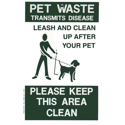 "Dogipot ""On Leash"" Pet Waste Sign"