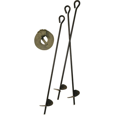 "Auger-style Tree Anchor Kit with 30"" stakes"