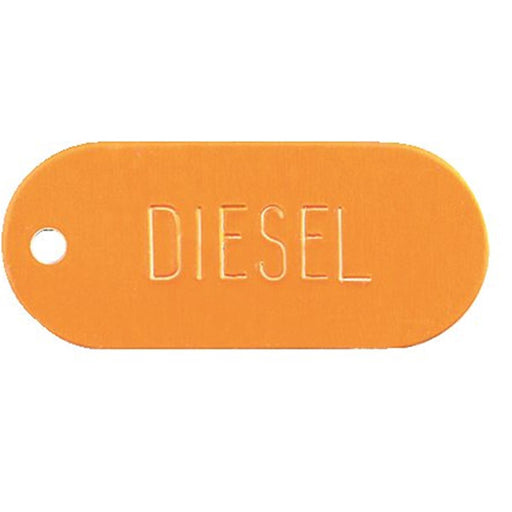 Oval Diesel Identification Tag (Yellow)