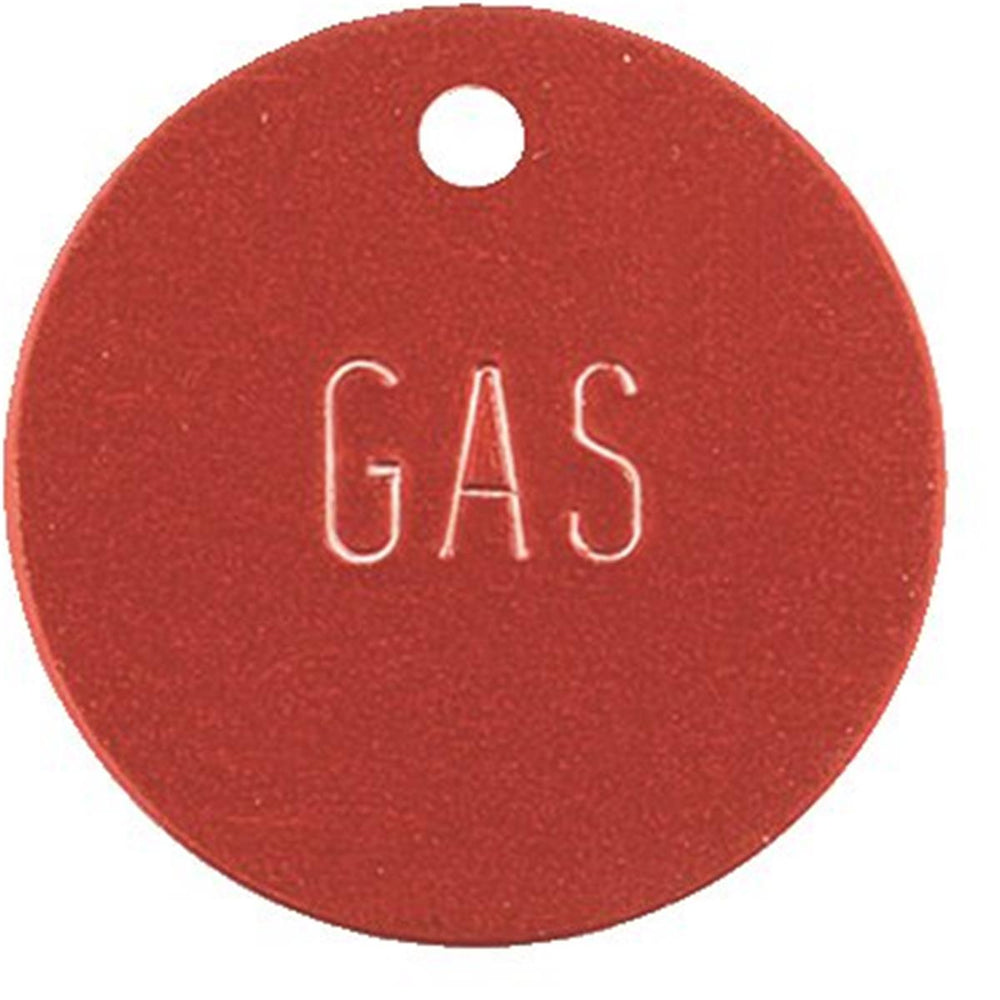 Round Gas Identification Tag (Red)