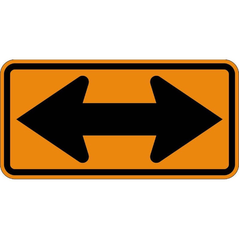 Two-way Arrow Traffic Direction Sign