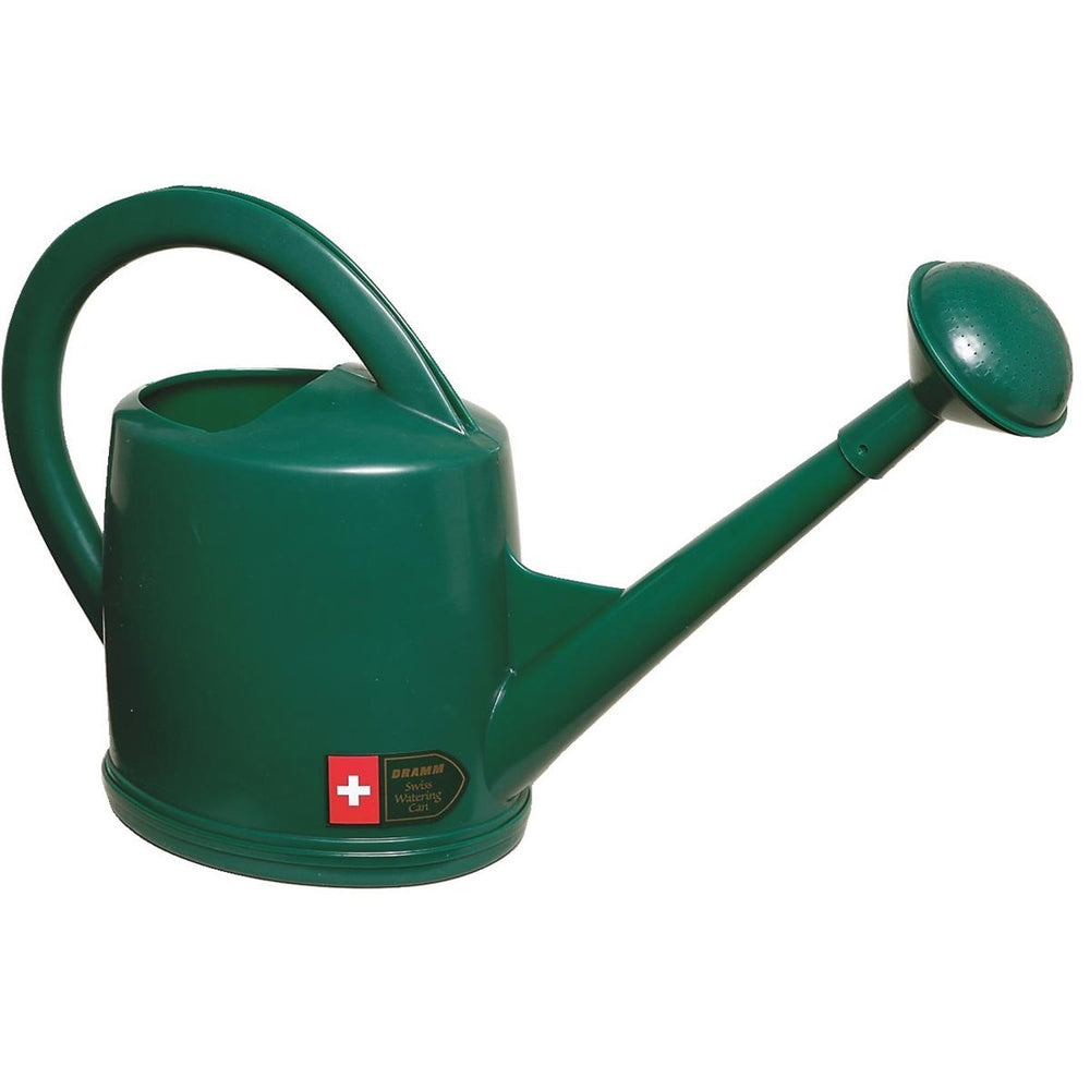 Heavy-Duty Plastic Watering Can with Plastic Rose, 1-3/4 gal.