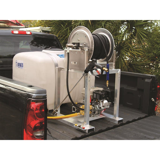 Skid-Mounted Pressure Washing Unit without Hose Reel, 50 gal.