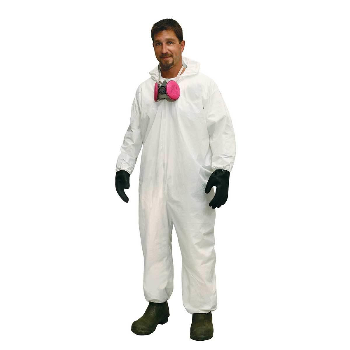 Hooded Disposable Coveralls with Elastic Wrists and Ankles