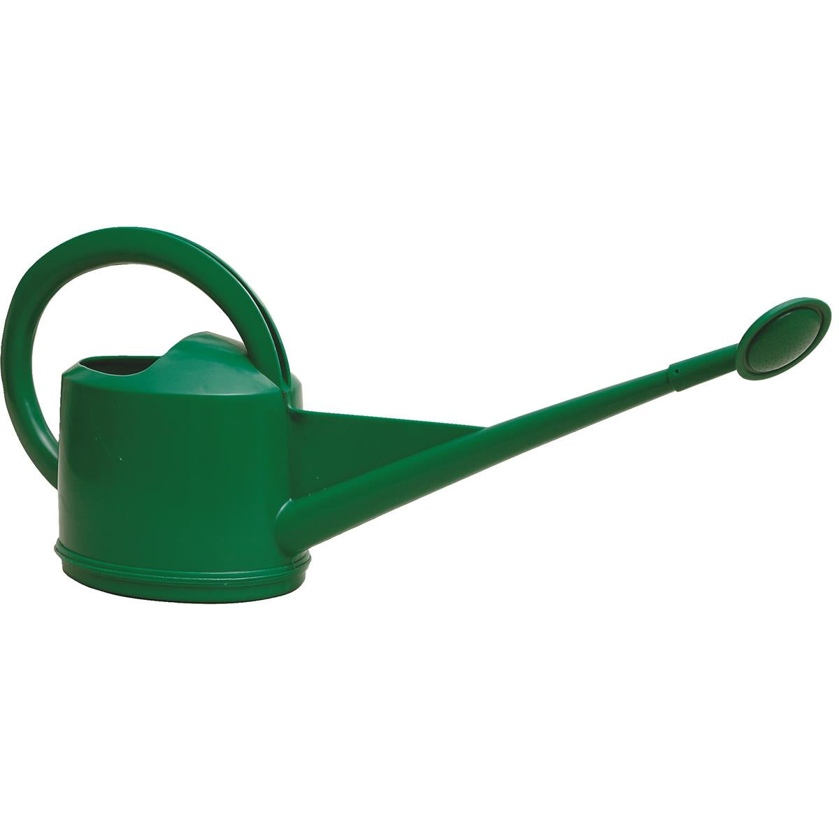 1-1/3 Gal. Heavy-Duty Plastic Watering Can with Plastic Rose Spout