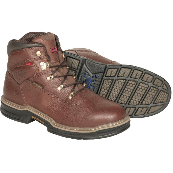 "Wolverine Buccaneer 6""H or 8""H Plain Toe Work Boots"