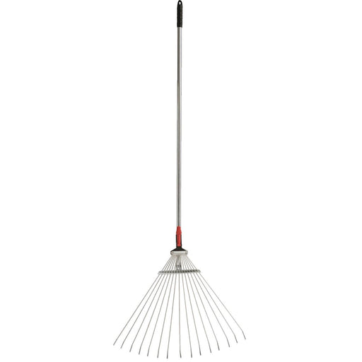 Leaf Rake with Adjustable Handle and Head