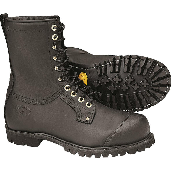 Full-Grain Leather Chain Saw Boots