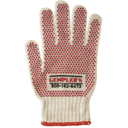 GEMPLER'S Cotton Knit Gripper Dot Gloves, Dozen Pair