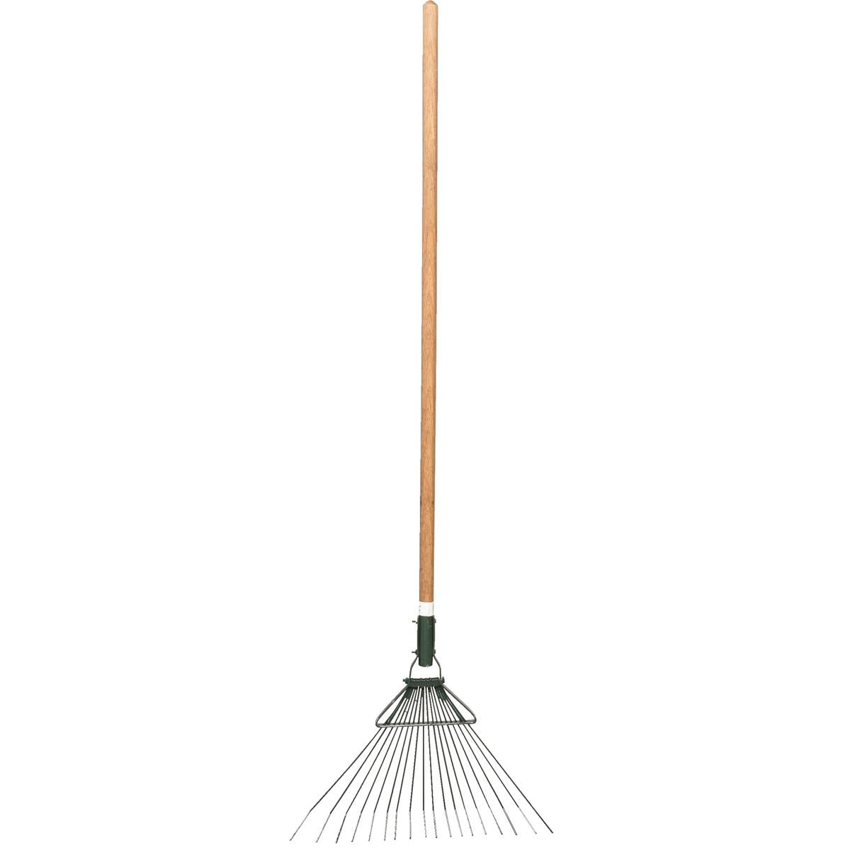 Broom Fire Rake with Wooden Handle
