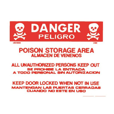 "Accuform Bilingual ""Poison Storage Area"" Warning Sign"