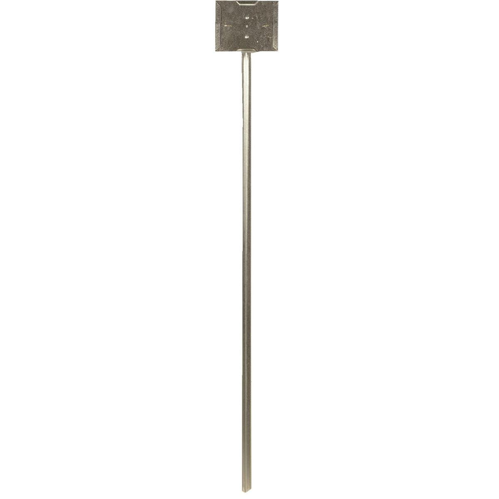 "Galvanized Sign Holder with 42"" stake"