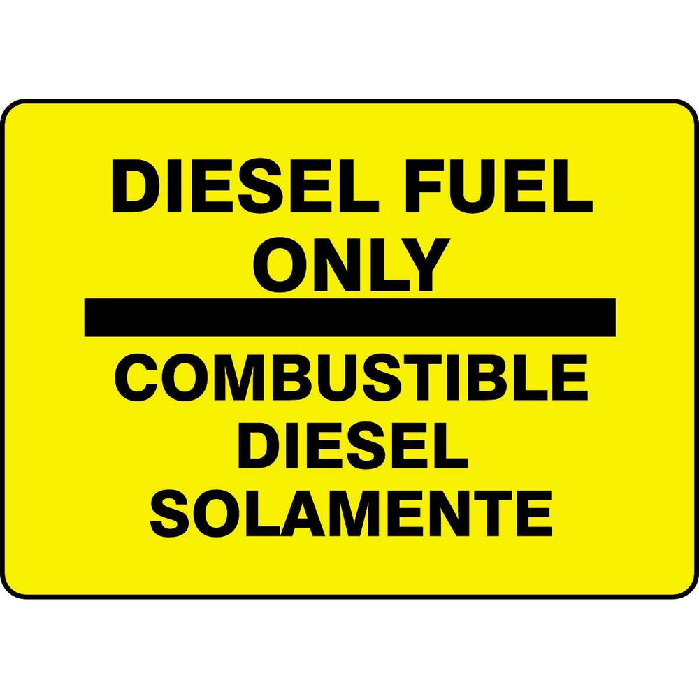 "Bilingual ""Diesel Fuel Only"" Sign"