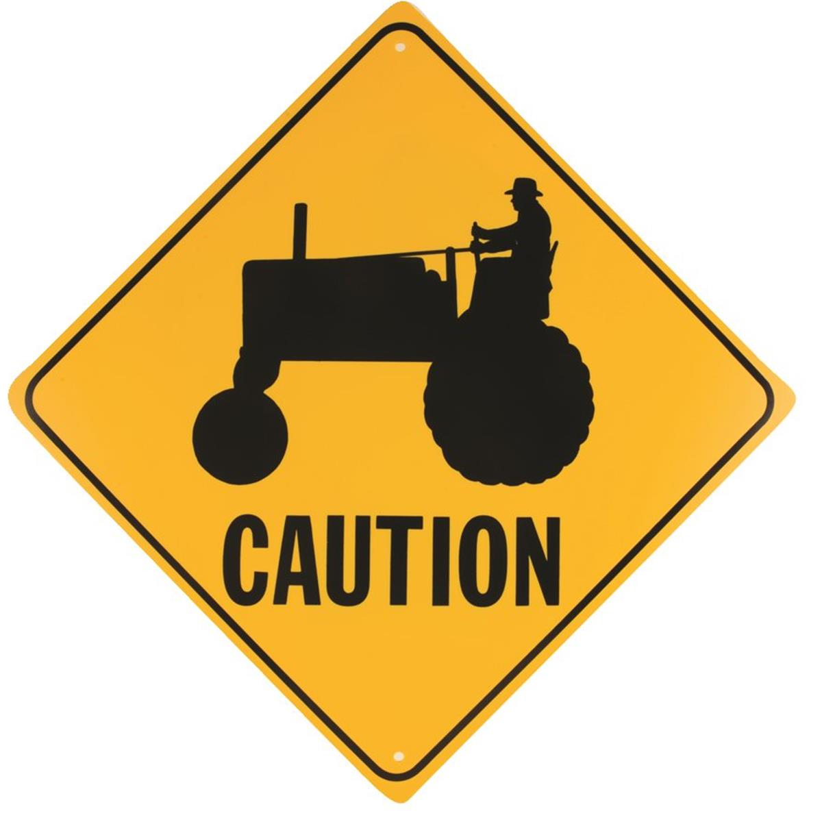 """Caution — Machinery"" Roadway Warning Sign"