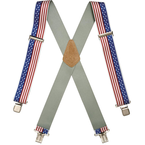 American Flag Suspenders, Clip-On