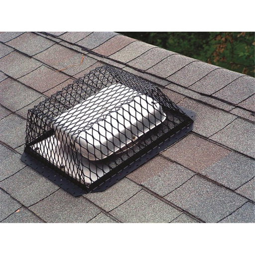 Black Galvanized Animal Control Roof Vent Screen