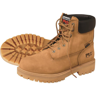 "Plain Toe Wheat Boots, 6""H"