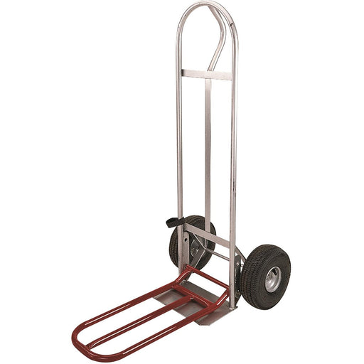 "Milwaukee Hand Truck with 10"" Pneumatic Wheels And Noseplate Extension"