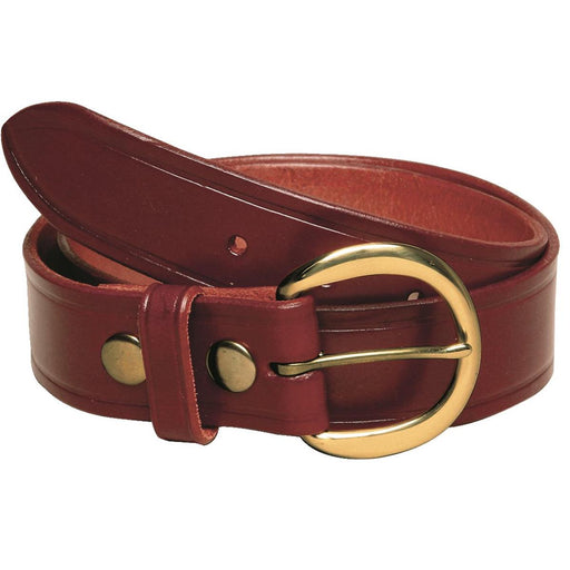 Traditional Brown Leather Work Belt