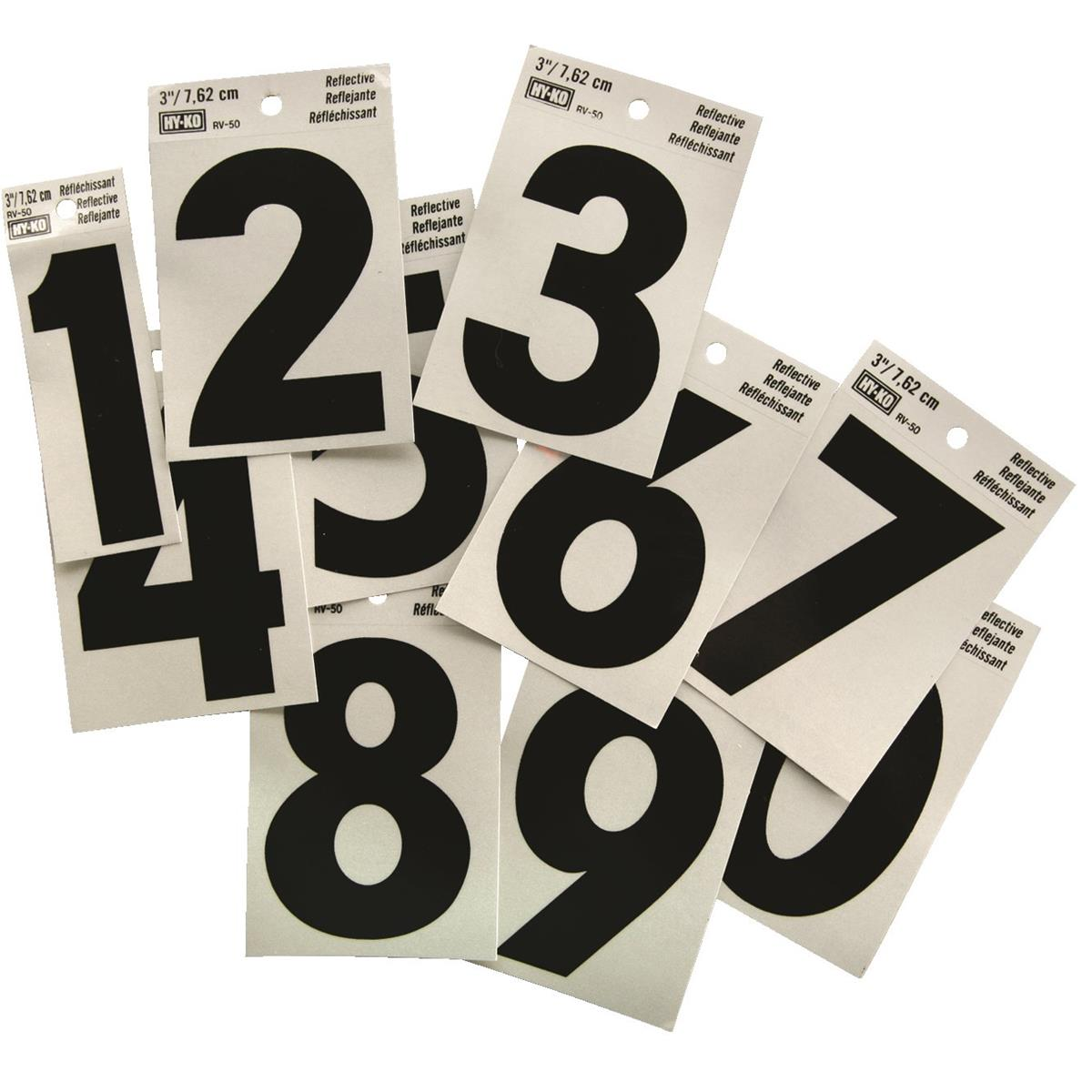 Self-adhesive Reflective Numbers