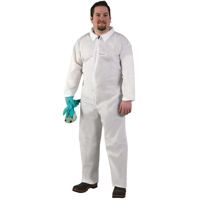 Protective Coveralls - Unhooded, Elastic Wrists and Ankles