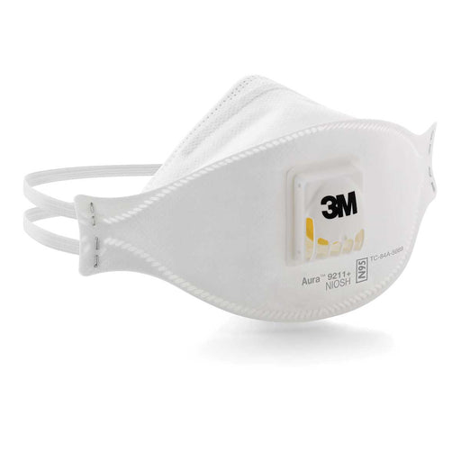 3M Aura Particulate Respirator 9211+/37193(AAD), N95 Box of 10