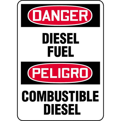 Bilingual Danger / Diesel Fuel Sign