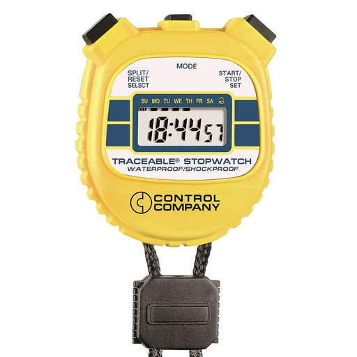 TRACEABLE Waterproof/Shockproof Timer/Stopwatch
