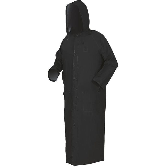 MCR SAFETY Full-Length PVC Riding Slicker/Pommel Coat, Black