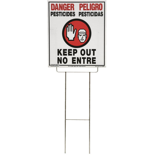 "Gempler's Vinyl WPS Bilingual Warning Sign, 14""W x 16""H"