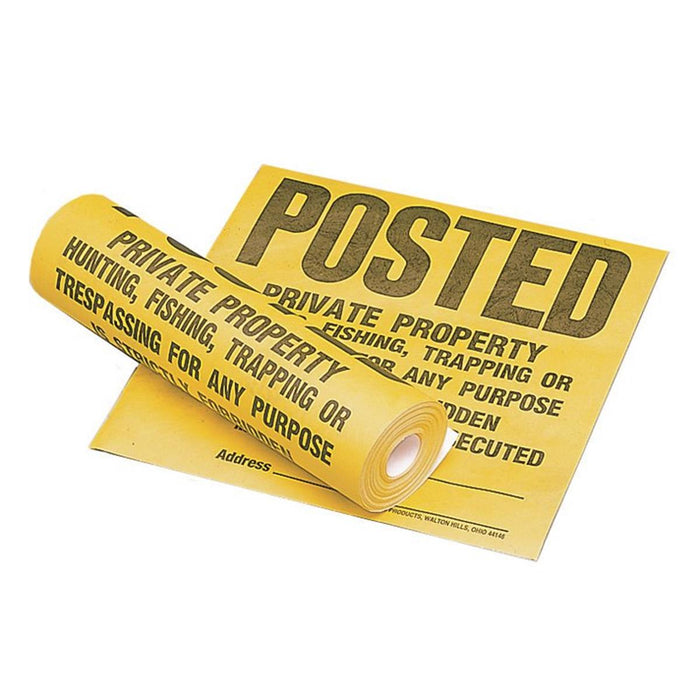 "HY-KO PRODUCTS 12"" x 12"" Tyvek® Sign - ""Private Property"""