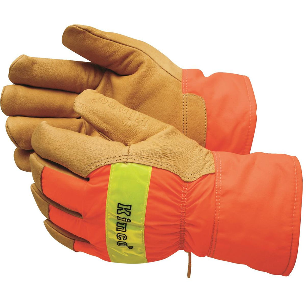 KINCO INTERNATIONAL High-Visibility, Insulated Pigskin Gloves with Safety Cuff