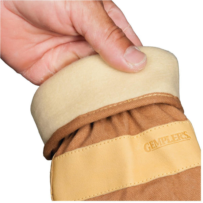 Insulated, Waterproof Pigskin Gloves with Safety Cuff